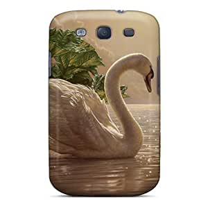 Awesome Swan Flip Case With Fashion Design For Galaxy S3