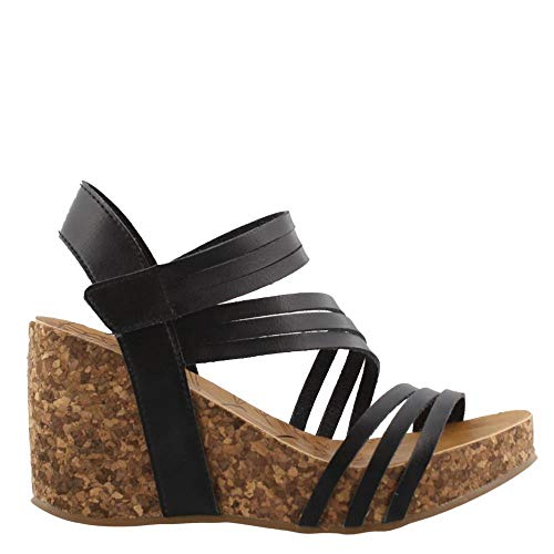 Gladiator Helm (Blowfish Women's, Helm Platform Sandals Black 7.5 M)