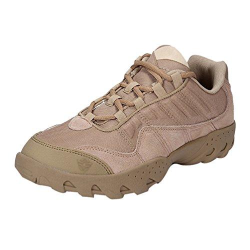 YiLianDa Herren Leder Kurz Stiefel Männer Draussen Gehende Wasserdichte Hoch oben Schuhe Khaki
