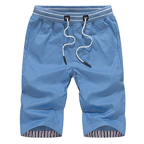 khdug Men's Swimming and Quick-Drying Sports Beach Pants Blue