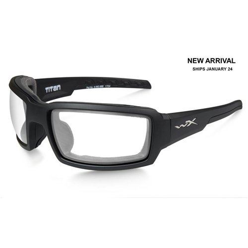 Wiley X CCTTN03 Titan Sunglasses Clear Lens Matt Frame, Black by Wiley X