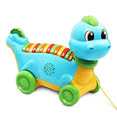 LeapFrog Lettersaurus Alphabet Pull Toy, Teal: Toys & Games