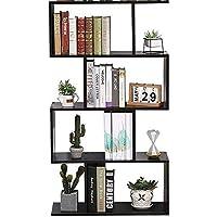 Etnicart – Librería Estantería Wengué - Oficina - Diseño moderno madera - 70 x 23,5 x 127,5…