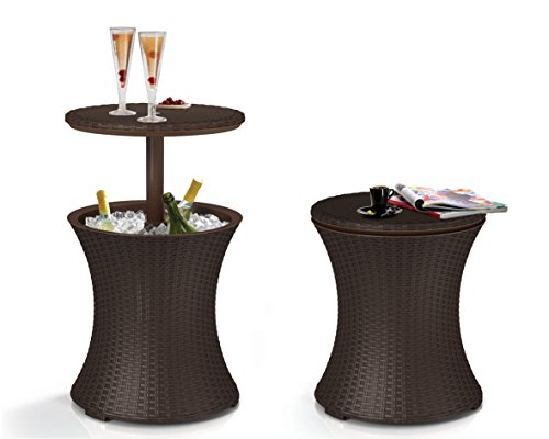 APEX PATIO 7.5-Gal Cool Bar Rattan Style Outdoor Patio Table Cooler (Style Rattan)