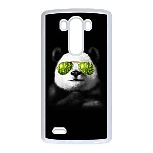 LG G3 Cell Phone Case White cool panda CMO Back Design Phone Case