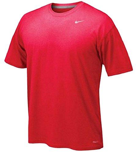Nike Legend Poly SS Tee–Maglietta a maniche corte per uomo Rosso/Grigio