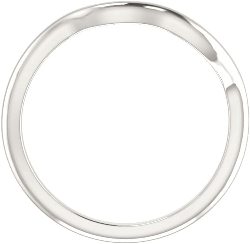 Bonyak Jewelry Sterling Silver Band for 2.75 mm Square Ring