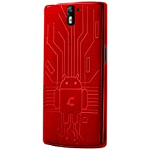 OnePlus One Case, Cruzerlite Bugdroid Circuit TPU Case Compatible for OnePlus One - Red