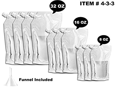Cruise Ship Flask Kit -,WYNK Reusable & Concealable Liquor Bags - Sneak or Smuggle Booze & Alcohol