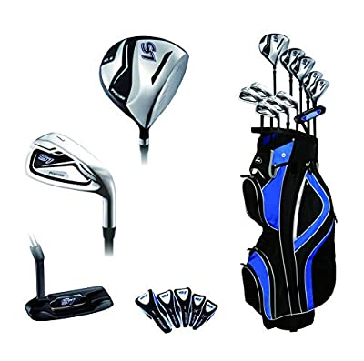 Precise S7 All Graphite Complete Golf Clubs Package Set Driver, 3, 5 Fairways, 24, 27 Hybrids, S.S. 7-SW Irons, Putter, Cart Bag - Choose R Flex or Senior Flex