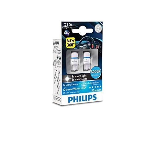 Philips X-tremeVision LED W5W T10 8000K 127998000KX2 W5W T10 W2.1x9.5d bleue