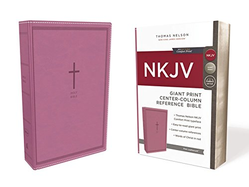 NKJV, Reference Bible, Center-Column Giant Print, Leathersoft, Pink, Red Letter Edition, Comfort Print: Holy Bible, New King James Version ()
