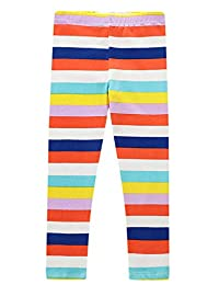 Happy Cherry Baby Girls Thin Leggings Toddler Soft Printed Ankle Length Cotton Leggings for Spring Summer