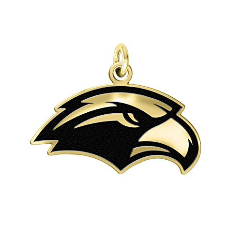 Southern Mississippi Golden Eagles 14k Yellow Gold Cut Out Logo College Charm (1/2