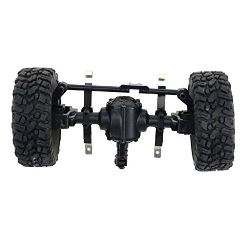 Rape Flower Sturdy Front/Centra/Rear Axle Assembly Spare Part for JJRC Q60 1:16 RC Military (A) - Float Rear Axle