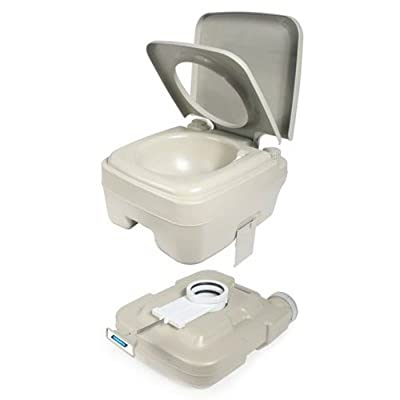 Camco Standard Portable Travel Toilet, Designed for Camping, RV, Boating And Other Recreational Activites (2.6 gallon) (41531)
