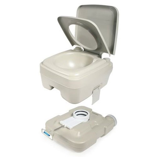 Camco 2.6 Gallon 2.6-Gallon Portable Travel Toilet-Designed for Camping, RV, Boating and Other Recreational Activities (41531) by Camco