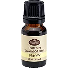 Happy 100% Pure, Undiluted Essential Oil Blend Therapeutic Grade - 10 ml. Great for Aromatherapy! (Bergamot, Grapefruit & Ylang Ylang)