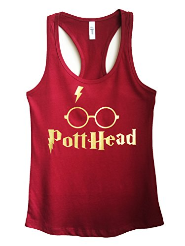 """RB Clothing Co Womens Harry Potter Inspired Metallic Graphic Tank Top """"Pott Head (X-Large, -"""