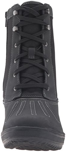 Clarks Womens Carima Luna Snow Boot Black Leather