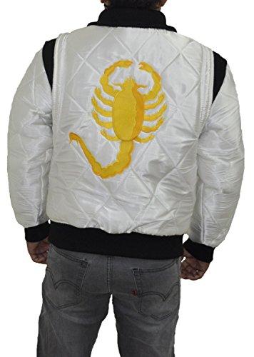 Fahren Scorpion Jacket Silver Satin mit Golden Scorpion