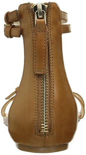 Nine West Onque sintético vestido de la sandalia Medium Natural