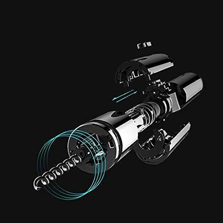 KGDC Sacacorchos de Camareros Botella eléctrica Recargable abrebotellas abridor automático eléctrico sin Cuerda del abrelatas Abre una Botella en sólo 6 Segundos (Negro) Abridor de Botellas