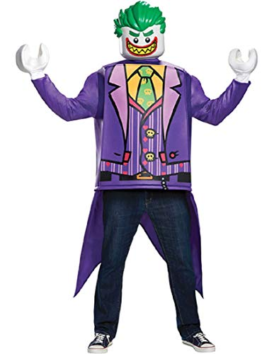 Disguise Men's Joker Classic Adult Costume, Purple, One Size -