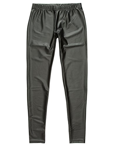 Price comparison product image Full Tilt Faux Leather Girls Leggings, Black, Large