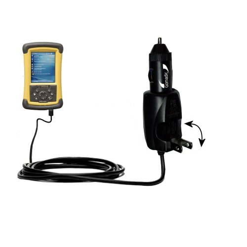 (Unique Gomadic Car and Wall AC/DC Charger designed for the Trimble TDS Recon 200 / 200X – Two Critical Functions, One Great Charger (includes Gomadic TipExchange))