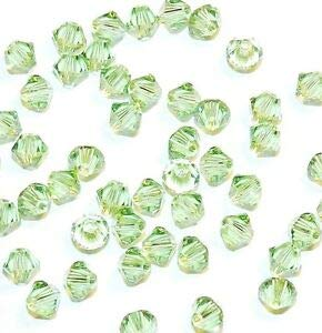 Cantaloupe Bicone - Steven_store SCB320s Cantaloupe Color-Changing Peach Green 4mm Bicone Swarovski Crystal Beads Making Beading Beaded Necklaces Yoga Bracelets