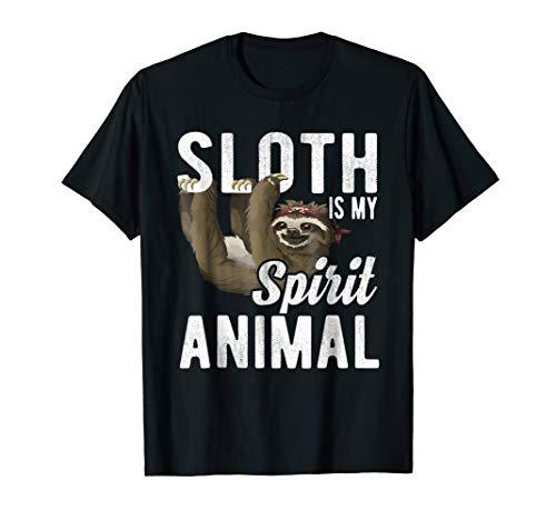 Sloth Is My Spirit Animal Hanging Sloth T Shirt