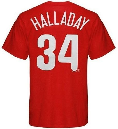 6abbb6139 Roy Halladay Philadelphia Phillies SignedAutographed Jersey PSADNA X50339  Amazon.com Roy Halladay 34 Philadelphia Phillies Mens Player Tee Shirt Big  . ...
