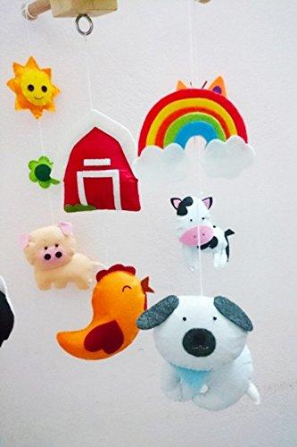Farm Animals Mobile - Baby mobile, Farm animals, handmade toys