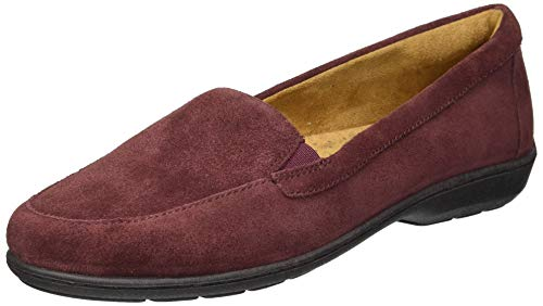 SOUL Naturalizer Women's Kacy Loafer, Wine Suede, 10 M US