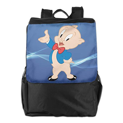Fashion Space Porky Pig Classic Pose Mens Womens Ultra Lightweight Packable Water Resistant Travel Hiking Backpack