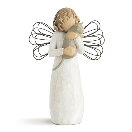 Willow Tree With affection Angel, sculpted hand-painted - Statue Cat Figurine