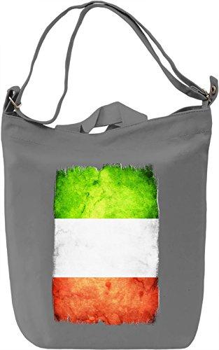 Italy Flag Borsa Giornaliera Canvas Canvas Day Bag| 100% Premium Cotton Canvas| DTG Printing|