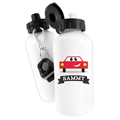 57efdefc6e Personalised Cute Transport Water Bottle 500ml Name School Aluminium sports  Car Steam Train Helicopter Tug Boat Hot Air Balloon Space Rocket Fire  Engine ...