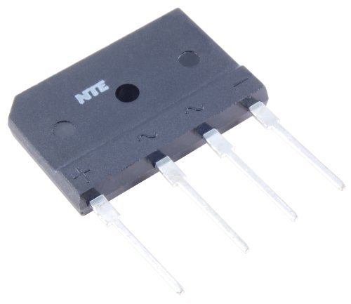 NTE Electronics NTE53010 Silicon Bridge Rectifier, Full Wave, Single Phase, 15 Amps Average Rectified Output Current, 1000V Peak Repetitive Reverse Voltage