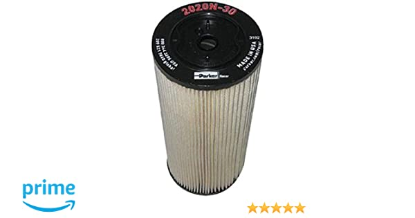 RACOR FUEL FILTER TURBINE SERIES REPLACEMENT 2020N30 30 MICRON RED SOLD 3 PAC