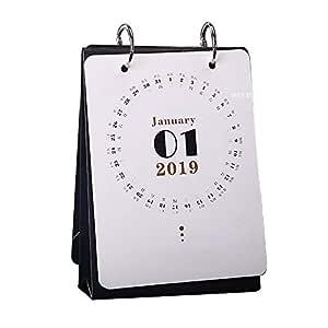 DEI QI Año Nuevo Calendario 2019 Moda Simple Encantadora Mini ...