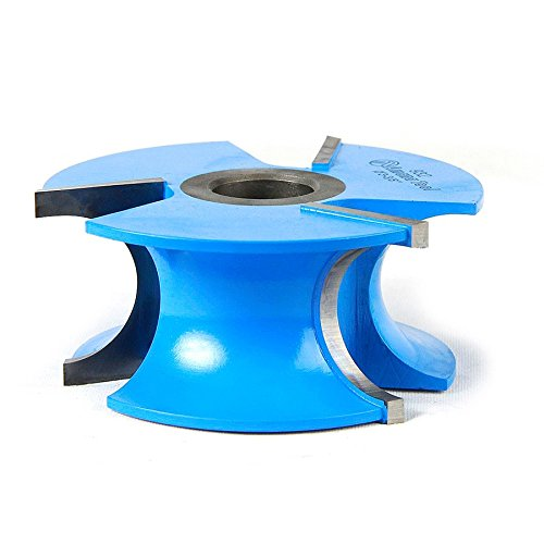 Amana Tool 932 Carbide Tipped 3-Wing Stair Tread 9/16 R x 3-3/8 D x 1-1/2 CH x 1/2 & 3/4 Bore Shaper Cutter