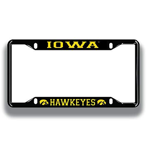 Elite Fan Shop Iowa Hawkeyes License Plate Frame Black