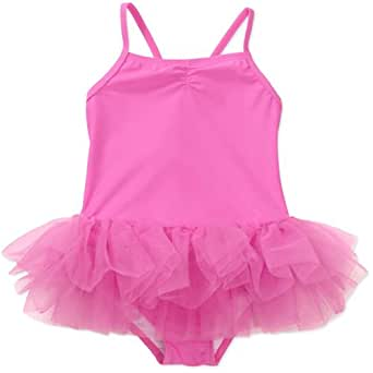 "OP® Baby Girl's Pink ""Sparkle Tutu"" Bathing Suit with SPF-50+, Size: 12 months to 4T (3T, pink/princess)"