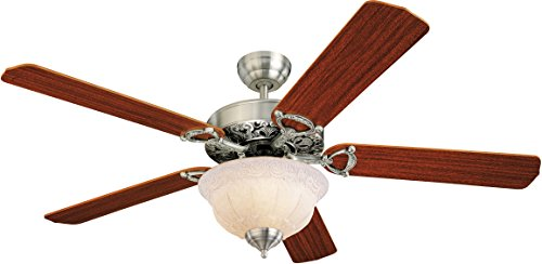 Monte Carlo 5OR52EPD-L, Ornate Elite Ceiling Fan with Light, 52 , English Pewter