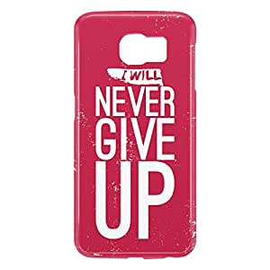 Loud Universe Samsung Galaxy S6 3D Wrap Around Never Give Up Print Cover - Pink