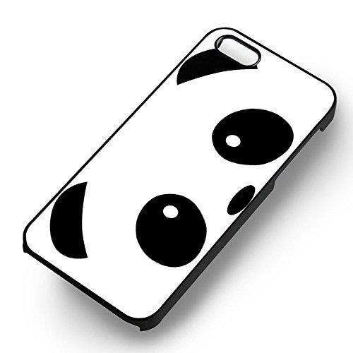 Panda Face Cute pour Coque Iphone 6 et Coque Iphone 6s Case (Noir Boîtier en plastique dur) X3Z1UC