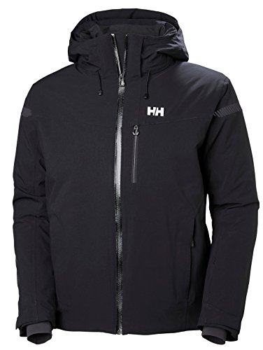 (Helly Hansen Men's Swift 4.0 Waterproof Insulated Ski Jacket, Black, Small)