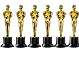 Gold Award Trophies, 6' Trophy Statues - Oscar Statues - Oscar Trophy Award for Party Celebrations, Ceremony, Appreciation Gift, Sport Awards, Olympic Academy Awards, Oscar Party Supplies, (Set of 6)